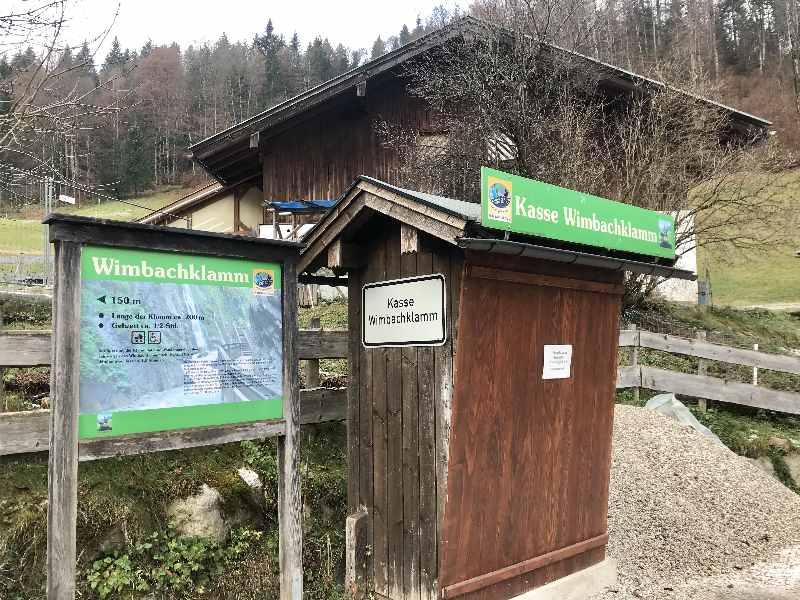 Wimbachklamm Eintritt - 150 Meter vor der Klamm sind die Wertmünzen zu kaufen