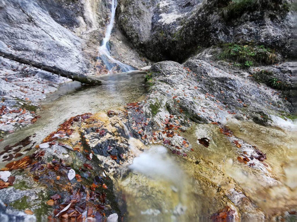 Herbst am Sulzer Wasserfall in Marktschellenberg