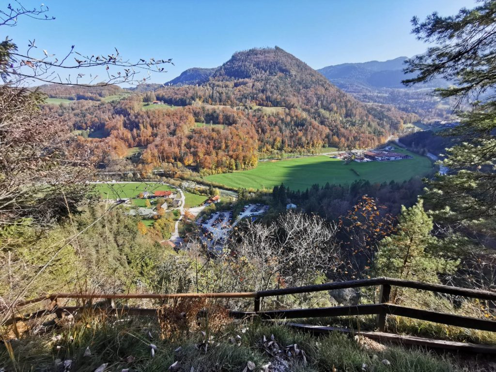Almbachklamm wandern: Über den Hammerstiel Steig zurück zur Kugelmühle