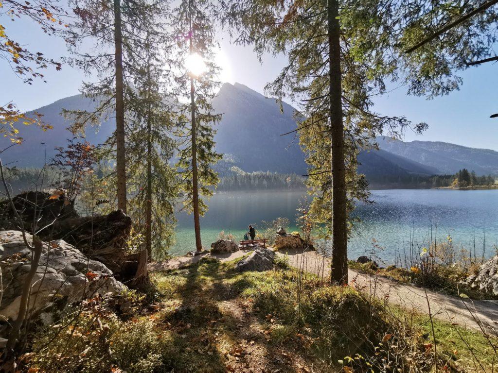 Hintersee Ramsau - türkisgrüner Bergsee in den Bayerischen Alpen