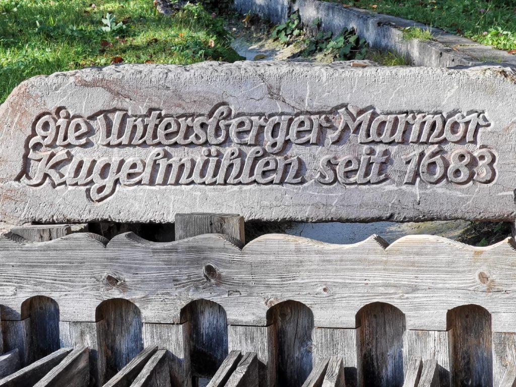 Kugelmühle Marktschellenberg - heute noch zu bewundern am EIngang in die Almbachklamm