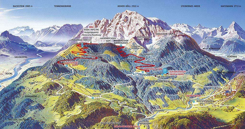 Rossfeld Panoramastrasse Karte - (c) staatliches Bauamt Traunstein