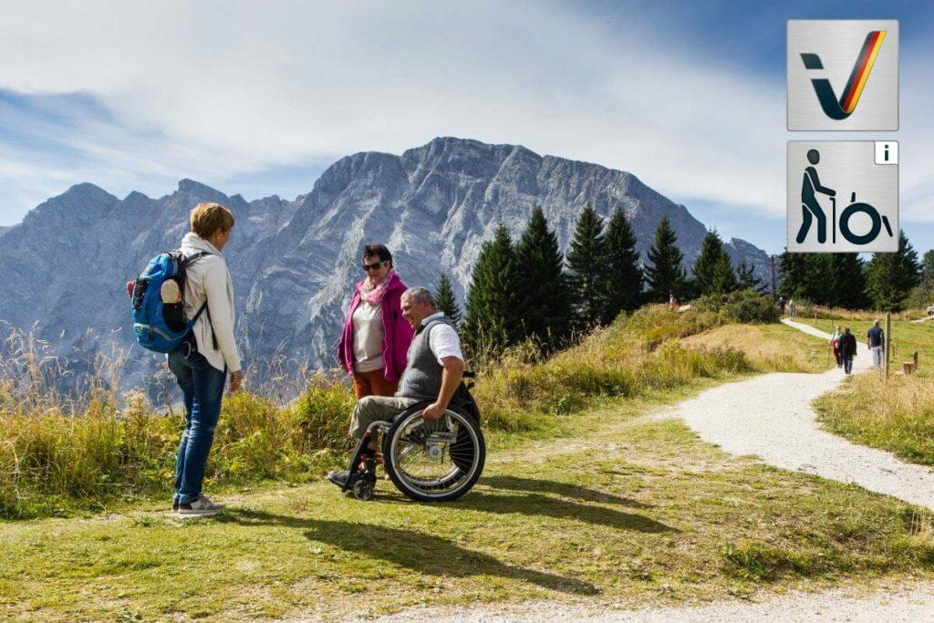 Die Rossfeld Panoramastrasse ist barrierefrei - ideal für einen Ausflug mit Rosstuhl oder Kinderwagen