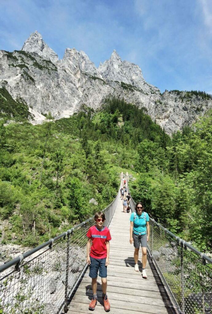 Wanderziel Klausbachtal Hängebrücke mit rund 55 Metern Länge
