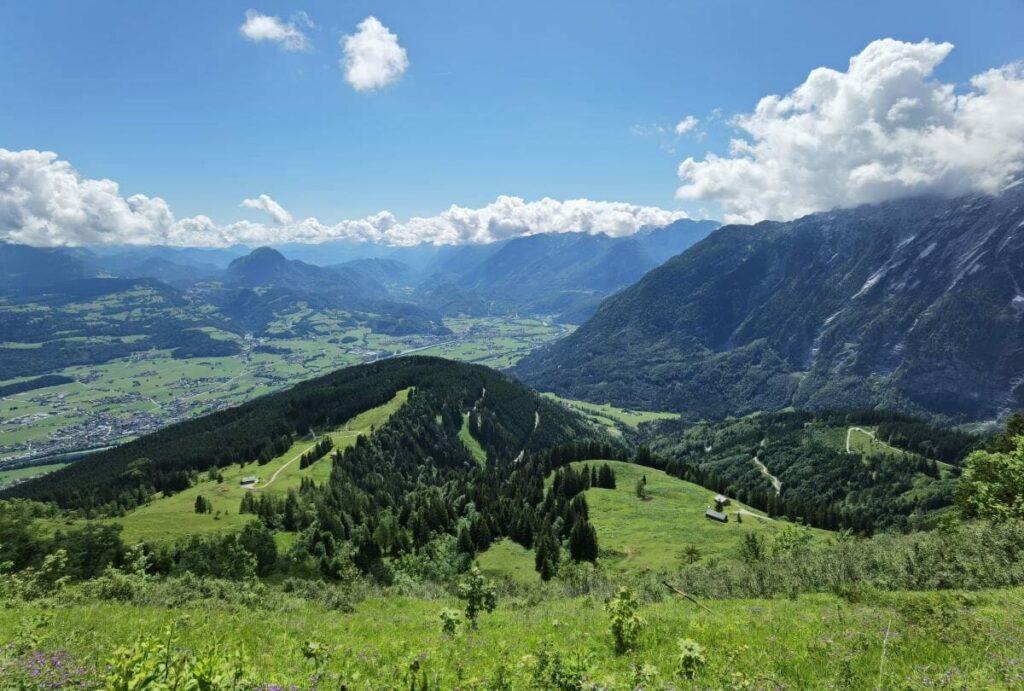 Die Aussicht auf dem leichten & kurzen Rossfeld Panoramastrasse - Rundweg