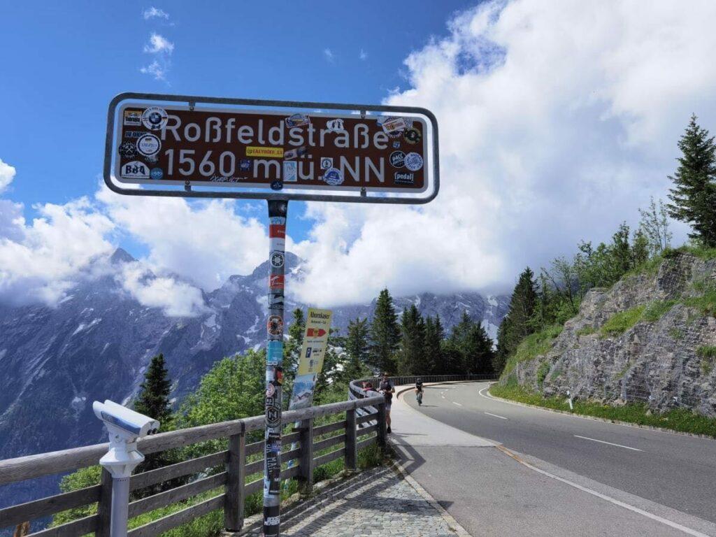 Höchster Punkt der Rossfeld Panoramastrasse auf 1560 Metern
