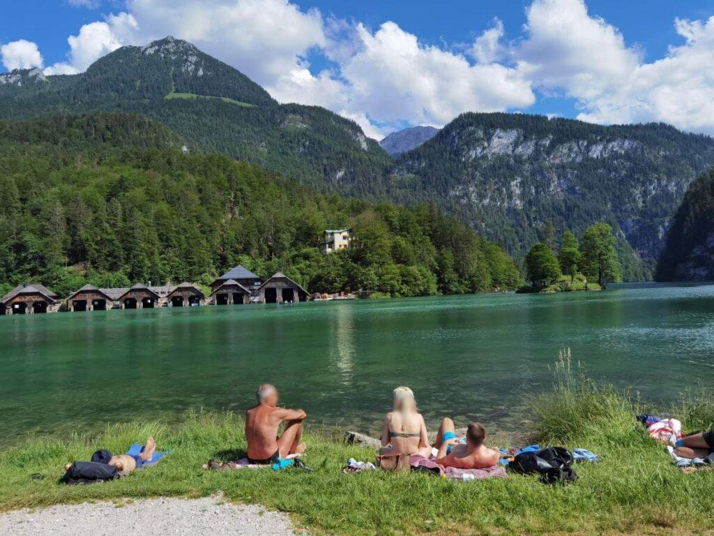 Darf man am Königssee baden? Wo sind die besten Badestellen?