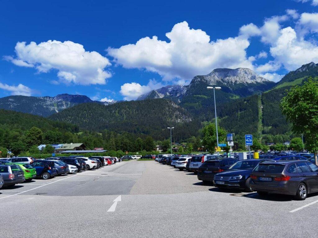 Wo am Königssee parken? - das ist der einzige Parkplatz!